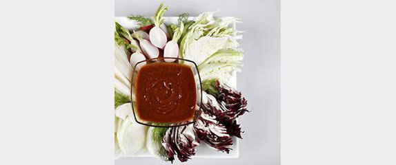 Crudite Platter with Spicy Miso Dip