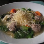 Escarole and meatball soup