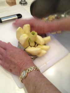 Leslie Fishman loves using her old apple cutter and corer.