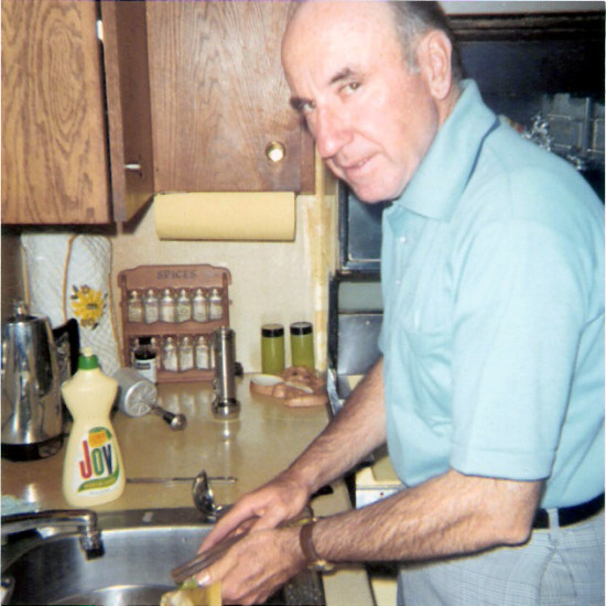 Judge William Walsh in the family kitchen in the early 1970s. Courtesy Katherine Bautze